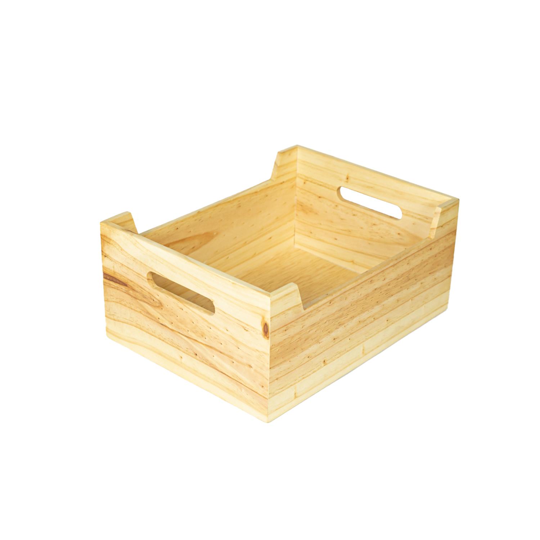 Canasta de madera grande personalizada