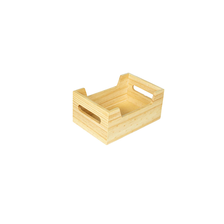 Canasta de madera  pequeña personalizada