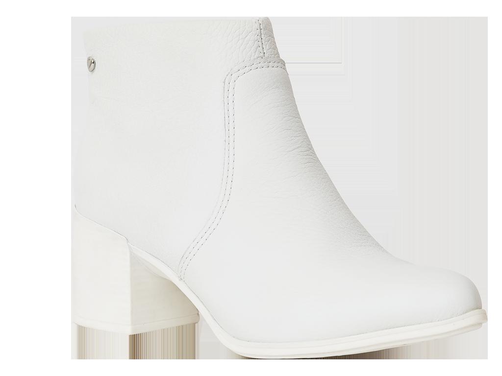 Botin De Cuero Blanco